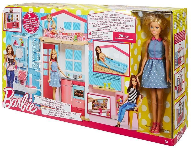 Barbie Casa Portatile A Due Piani Ferrari Giocattoli